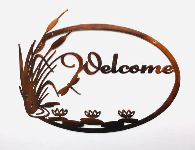 Cattail welcome-copper